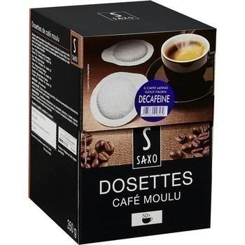 Dosettes de cafe moulu decafeine x50 compatibles senseo