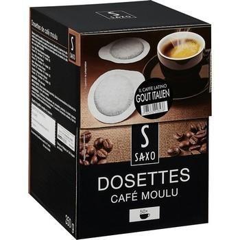 Dosettes de cafe moulu gout italien x50 saxo