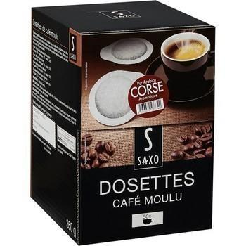 Dosettes de cafe moulu pur arabica corse x50 compatibles senseo