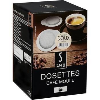 Dosettes de cafe moulu pur arabica doux x50 compatibles senseo
