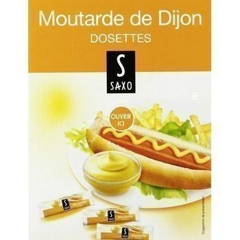 Dosettes de moutarde de dijon 4 g saxo vendu a l unite