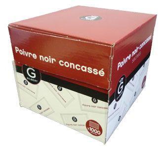 Dosettes poivre noir concasse x 1000 gilbert pour bureau
