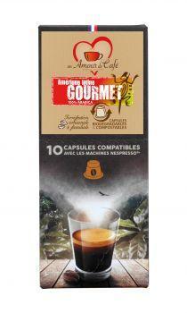 Dosettes pour nespresso gourmet x10