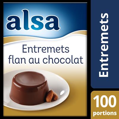 Entremets flan au chocolat 1 1 kg 100 portions alsa