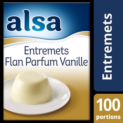 Entremets flan parfum vanille 900 g 100 portions alsa