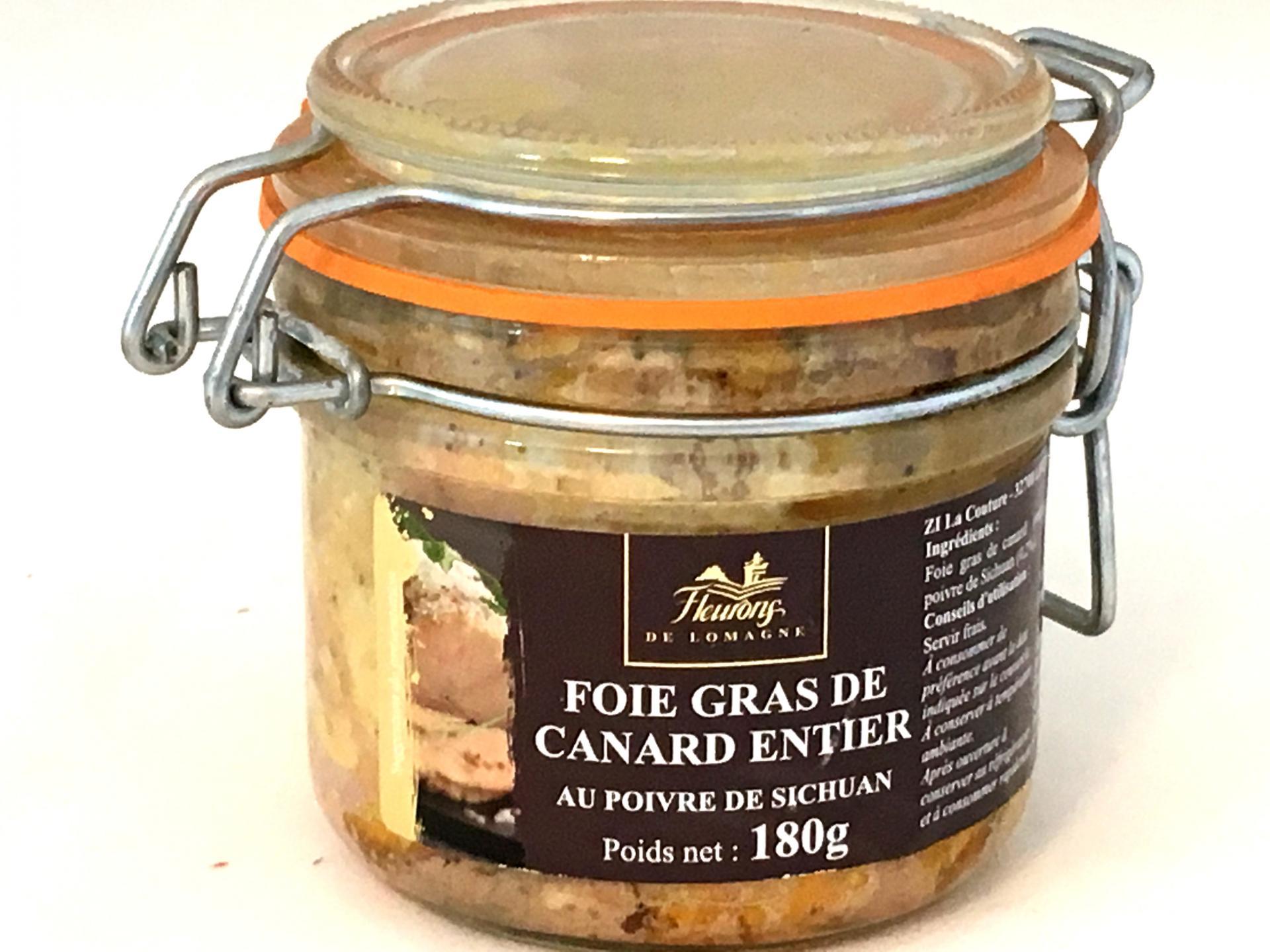 Foie gras de canard entier au poivre de sichuan 180g bocal