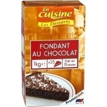 Fondant au chocolat 1 kg environ 25 parts