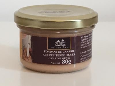 Fondant de canard aux pepites de figues 20 fg 80g bocal