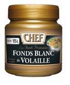 Fonds blanc de volaille premium 630 g chef