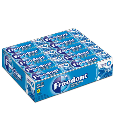 Freedent sans sucre menthe givree 30 x 10 dragees