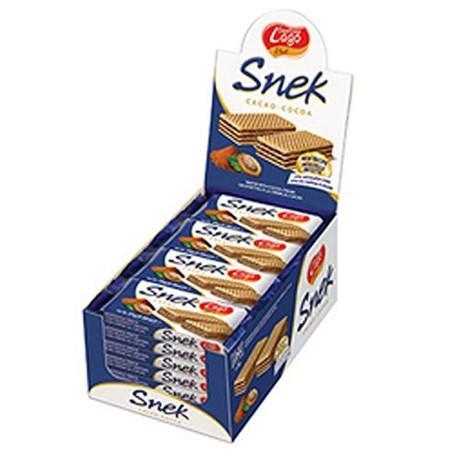 Gauffrettes au chocolat 24 x 45 g snek pour bureau