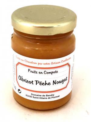 Gourmandise d abricot peche et nougat 110g bocal 1