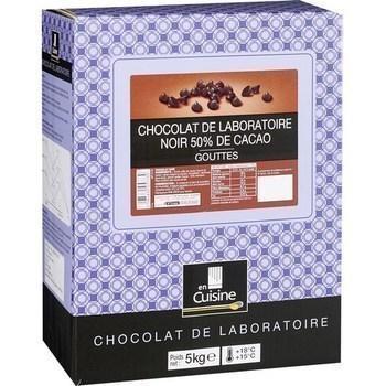 Gouttes chocolat noir 50 de cacao chocolat de laboratoire 5 kg