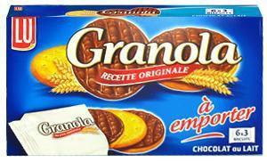 Granola chocolat au lait pocket 5 x 225 g lu pour professionnels