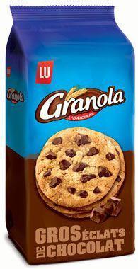 Granola cookies chocolat 4 x 184 g lu pour professionnels