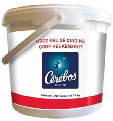 Gros sel seau 5 kg cerebos pour professionnels