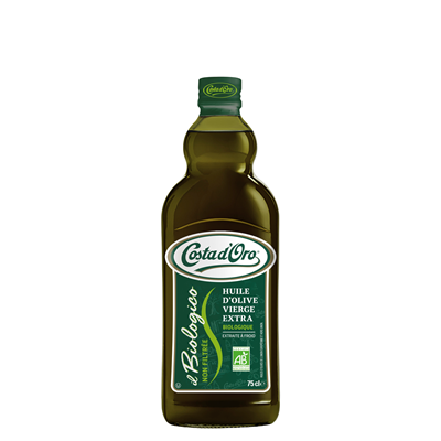 Huile d olive bio bouteille 75 cl costa d oro