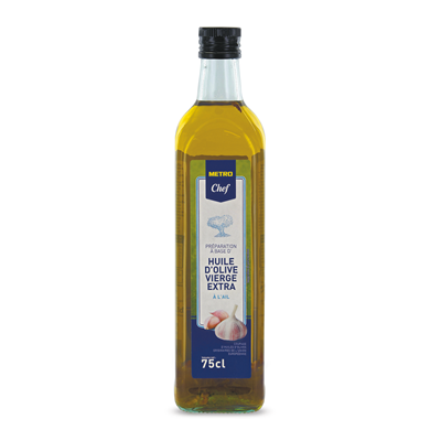 Huile d olive vierge aromatisee a l ail 75 cl metro chef