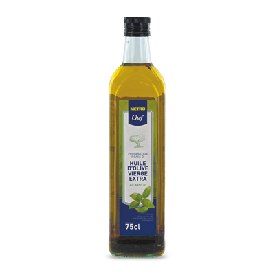 Huile d olive vierge aromatisee au basilic 75 cl metro chef