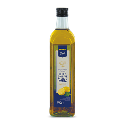 Huile d olive vierge aromatisee au citron 75 cl metro chef