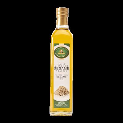 Huile vierge de sesame toastee 500 ml huilerie de lapalisse