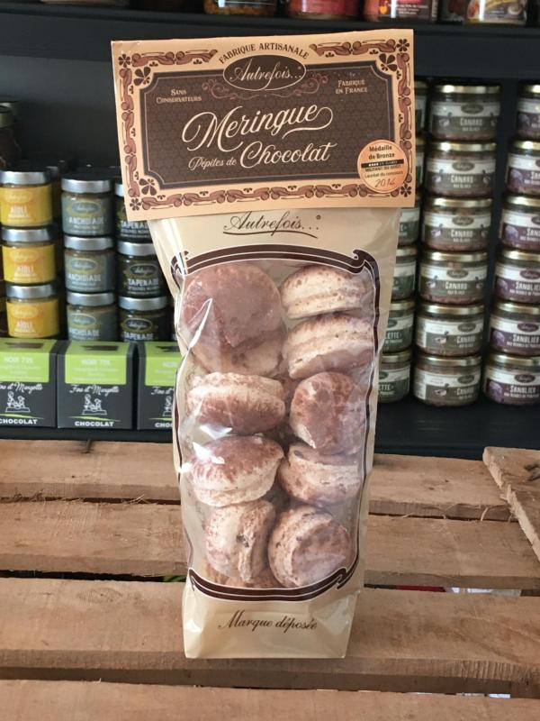 SACHET MERINGUES CHOCOLAT 80g Autrefois Terroir Milhaud Gard