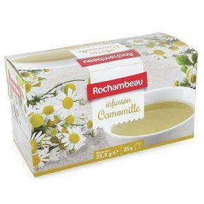 Infusion camomille 25 sachets 40 g rochambeau pour professionnels