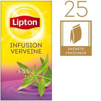 Infusion verveine 25 sachets fraicheur lipton pour bureau