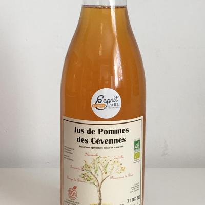 Jus de pomme bio «100% Cévennes» de Génolhac 1L ESAT La Cézarenque en Cévennes Concoules