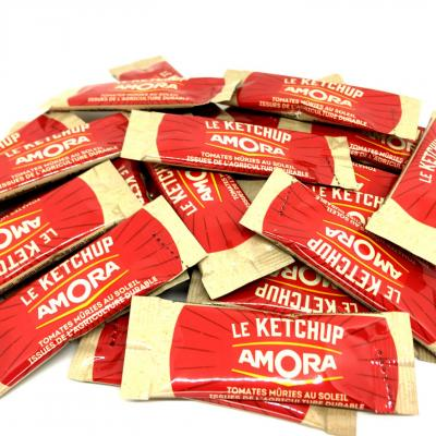 Ketchup dosette 10 ml amora en lot