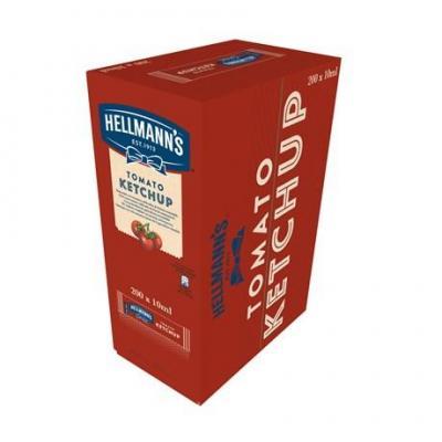 Ketchup dosettes 200 x 10 ml hellmann s pour professionnels