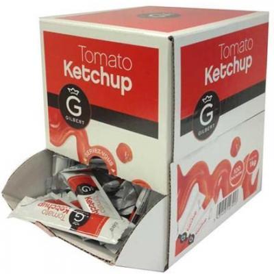 Sauce ketchup bûchettes 10 g Gilbert le lot de 20