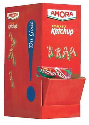 Ketchup en dosettes 240 x 11 5 g amora stick a l unite dosette individuel