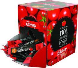 Ketchup en stick 10 g x 100 saveurs et sauces boite service