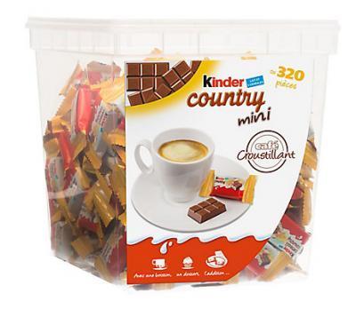 Kinder country mini 320 pieces 1 7 kg cevennes terroir colis gastronomiques