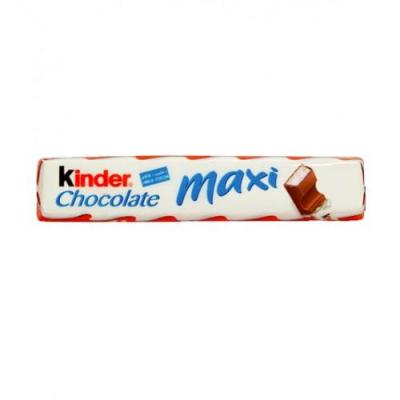 Kinder maxi chocolat 21g vendu a l unite
