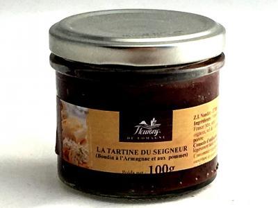 La tartine du seigneur boudin a l armagnac et aux pommes 100g bocal produits du terroir 1