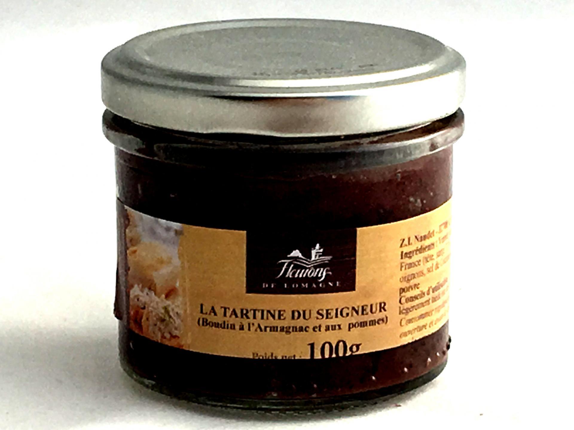La tartine du seigneur boudin a l armagnac et aux pommes 100g bocal produits du terroir 2