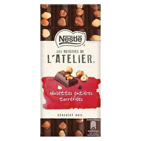 Les recette de l atelier chocolat noir noisettes entieres torrefiees 195 g pour professionnels