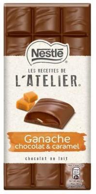 Les recettes de l atelier chocolat au lait ganache chocolat et caramel 150 g pour professionnels