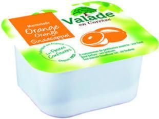 Lot de 12 confiture d orange 30g en barquette valade