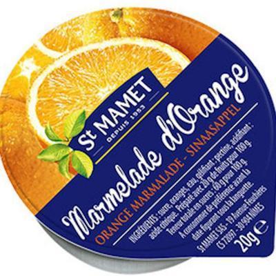Lot de 12 confiture extra marmelade d oranges 20 g st mamet en coupelle alu