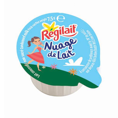Lot de 20 nuage de lait concentre non sucre en coupelle 7 5 g regilait
