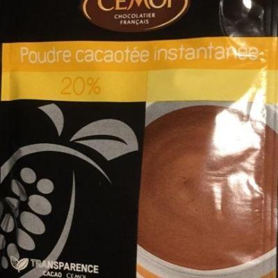 Lot de 20 sticks de boisson instantanee 20 de cacao 20 g cemoi 1