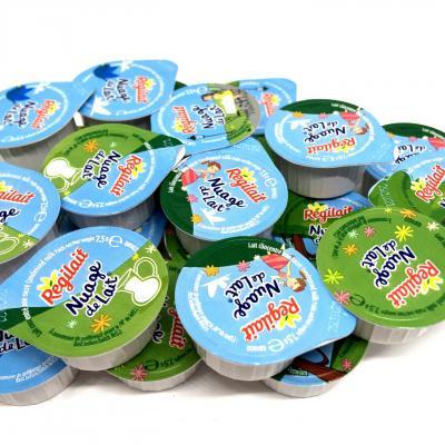 Lot de nuage de lait concentre non sucre en coupelle 7 5 g regilait