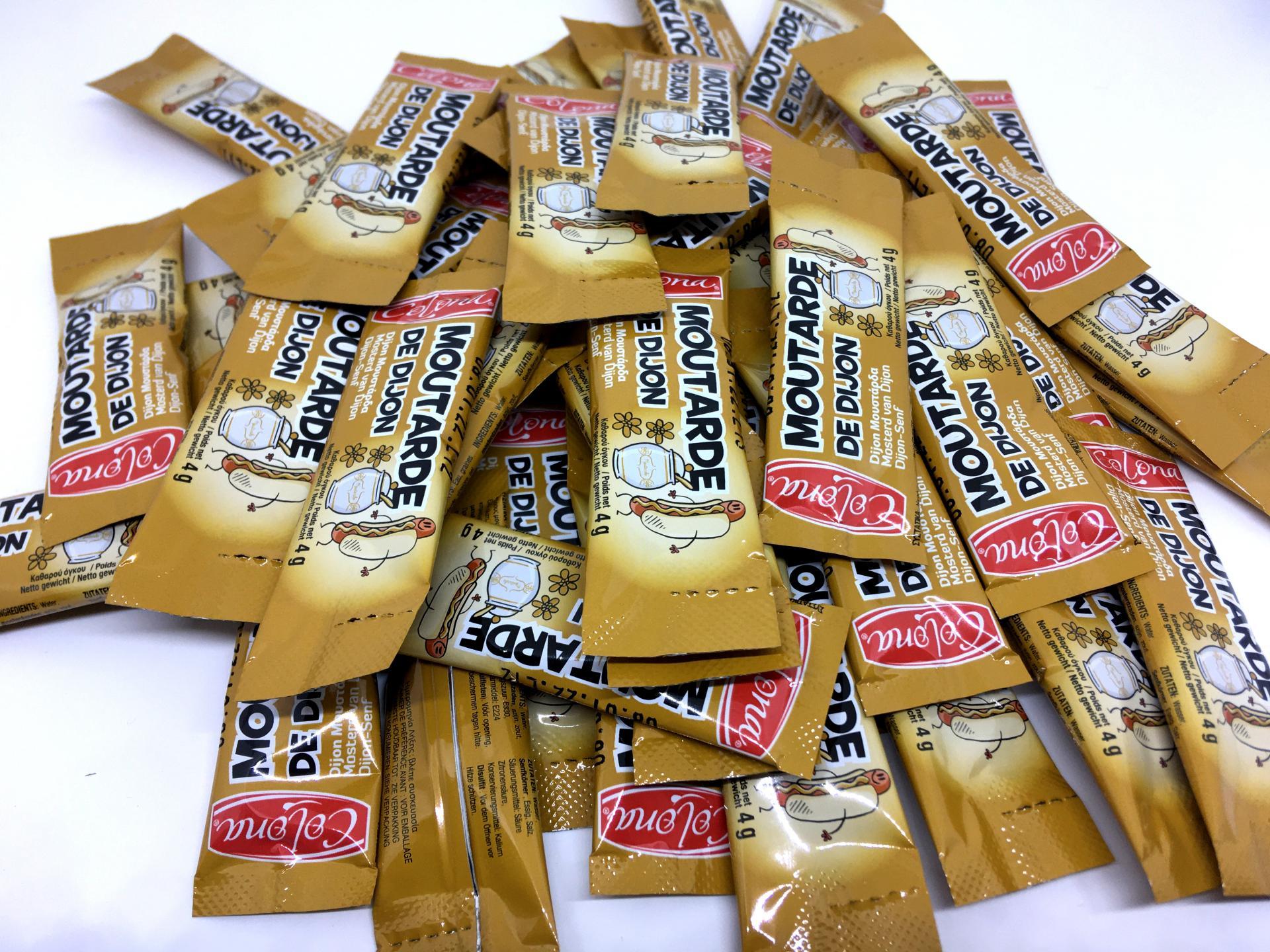 Lot sticks de moutarde en dosettes 4 g colona