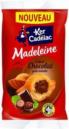 Madeleine coeur chocolat gout noisette 40 g