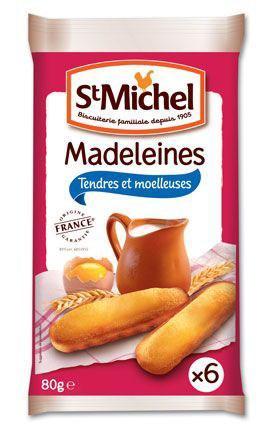 Madeleine longue nature 6 x 80 g pour professionnels