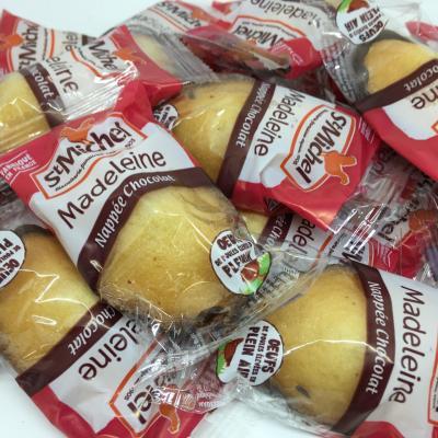 Madeleine nappee chocolat 25 g saint michel le lot de 10