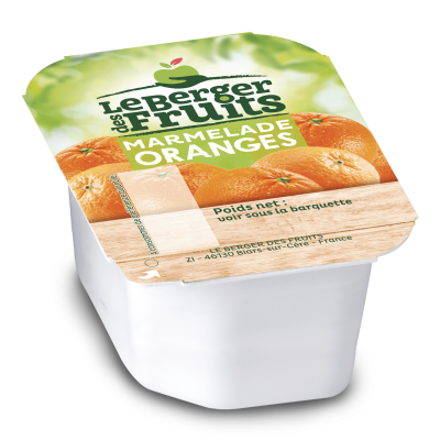 Marmelade d oranges bqt 30 g berger de fruits le lot de 15